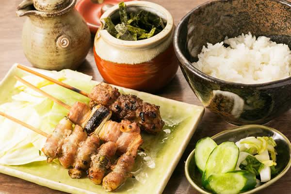 ラーメン定食 串焼きセット